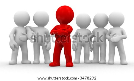 individual people good friends strong team - stock photo
