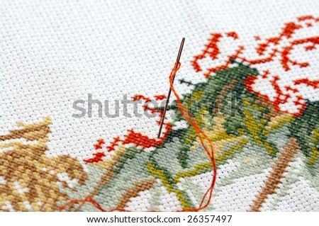 individual textile approach - stock photo