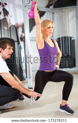 Individual training - stock photo