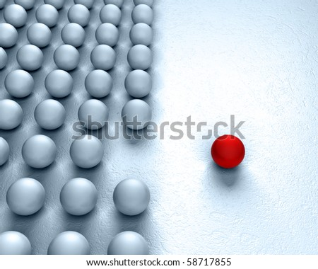 individuality - stock photo
