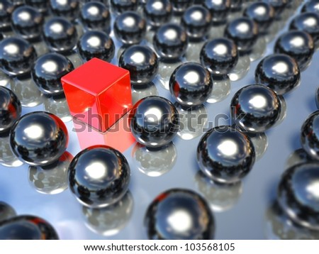 Individuality and leader, 3d business symbol - stock photo