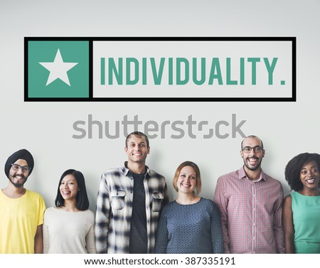 Individuality Character Independence Different Distinction Concept - stock photo
