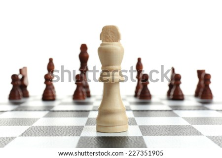 Individuality chess concept - stock photo