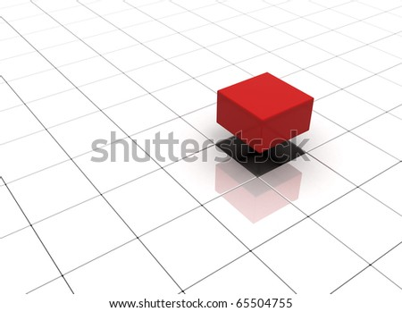 Individuality concept illustration cubes - stock photo