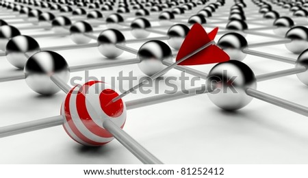 Individuality in Network, Connection - stock photo