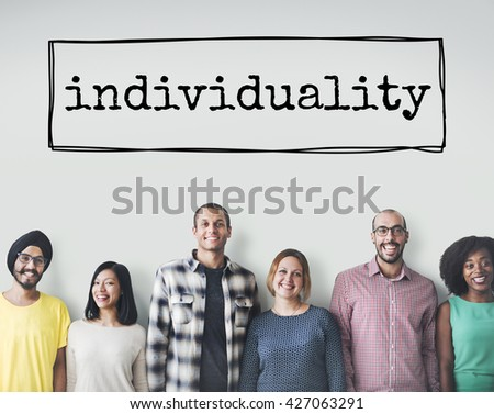 Individuality Personal Character Different Unique Concept - stock photo
