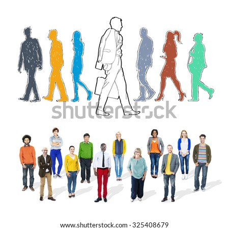 Individually Different Decision Determine Choice Concept - stock photo