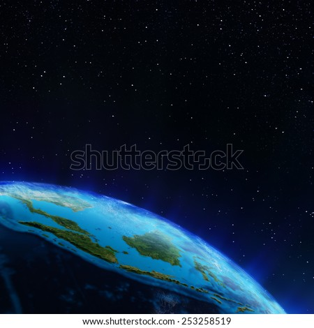 Indonesia. Elements of this image furnished by NASA