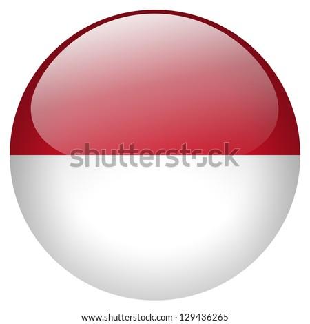 Indonesia flag button - stock photo