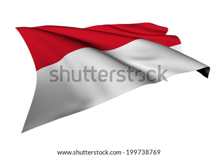 Indonesia flag - collection no_5  - stock photo