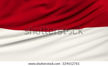 Indonesia Flag. 3d illustration