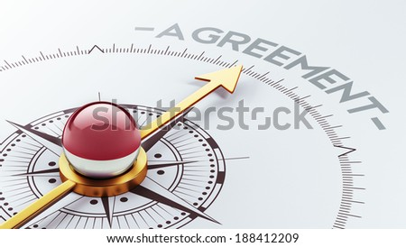 Indonesia High Resolution Agreement Concept - stock photo