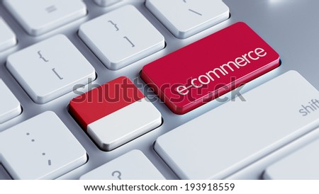 Indonesia High Resolution E-Commerce Concept - stock photo