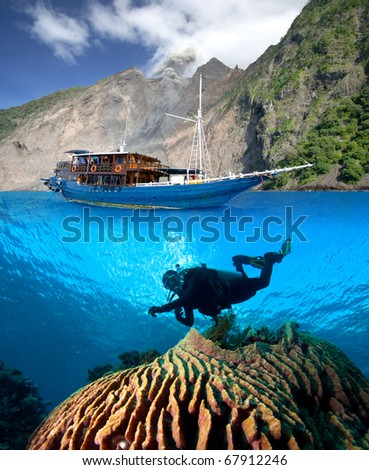 Indonesia, tropical paradise - stock photo