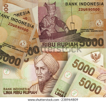 Indonesian Rupiah banknote five thousand - stock photo