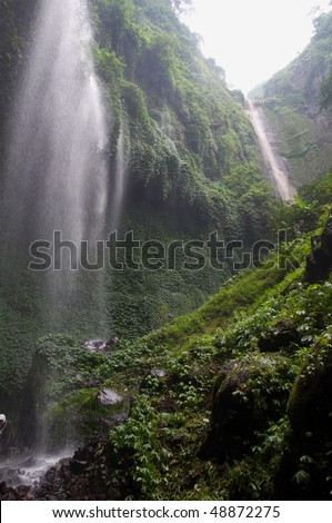 Indonesian Waterfall - stock photo