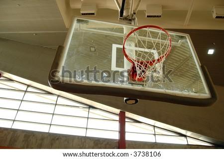 Indoor Basketball Hoop Grungy Looking Wall Stock Photo 3738106 ...