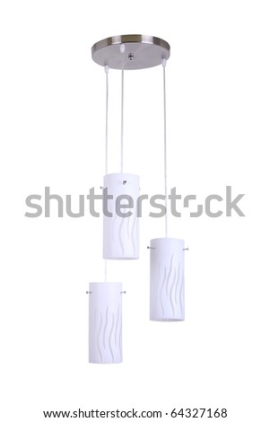 indoor chandelier isolated - stock photo