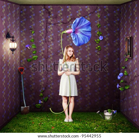 Indoor Gardener - stock photo