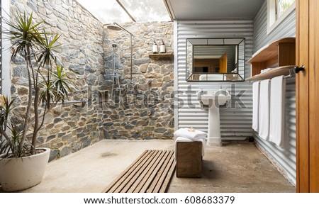 Indoor Outdoor Hotel Bathroom