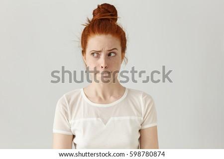 funny looking redhead