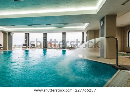 Indoor swimming pool in hotel