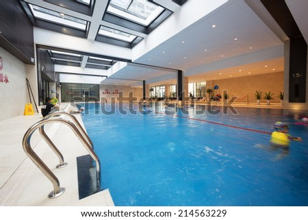 Indoor Swimming Poor - stock photo