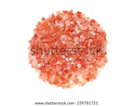 Indus himalayan pink salt isolated on white background - stock photo