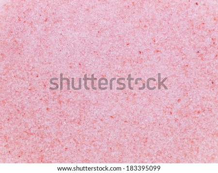 Indus himalayan pink salt - originated from the salt of the ocean hundreds of millions of years ago in the Indus Valley, containing natural iron - stock photo