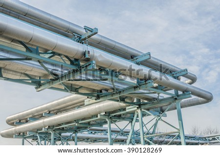 Industial pipes - stock photo