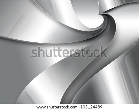 Industrial abstract background with a metal spiral - stock photo