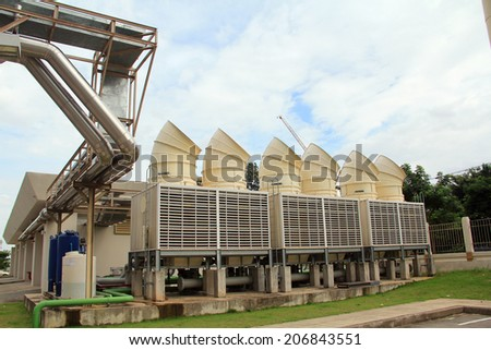 industrial air condition system - stock photo