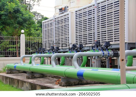 Industrial Air Conditioner - stock photo