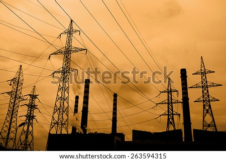 Industrial Air Pollution - stock photo