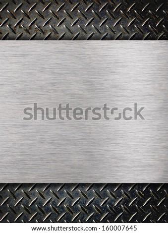 Industrial aluminum grunge background - stock photo
