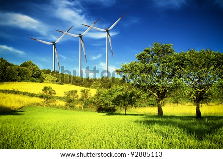 Industrial and nature - stock photo