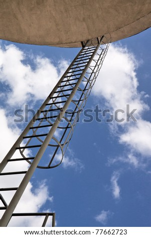 Industrial architecture. Ladder to the heaven. - stock photo