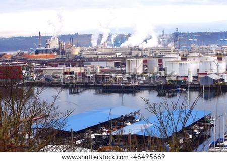 Industrial area. - stock photo