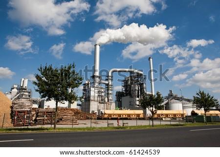 industrial area - stock photo
