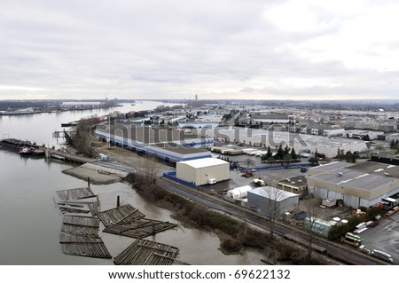industrial area by the river