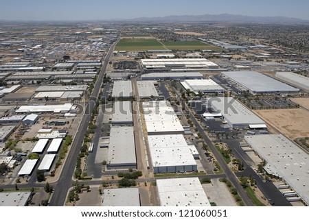 Industrial Area in Phoenix, Arizona - stock photo