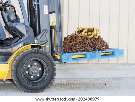 Industrial area. Work on a loader. - stock photo