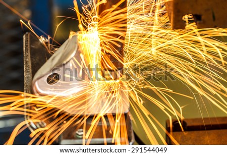 Industrial, automotive spot welding in thailand - stock photo