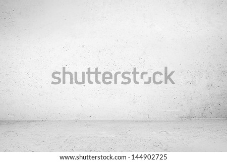 Industrial blank room with shadow - stock photo