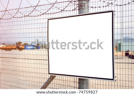 Industrial blank sign - stock photo