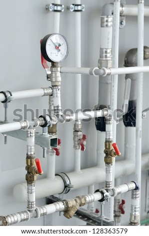 Industrial boiler room - stock photo