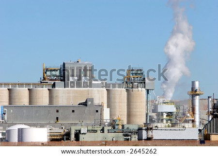 Industrial building polluting air