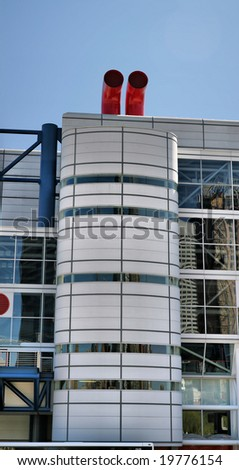 Industrial Building(Release Information: Editorial Use Only. Use of this image in advertising or for promotional purposes is prohibited.) - stock photo