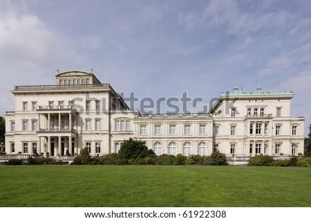 Industrial business family - Villa Krupp in Essen, Germany - stock photo