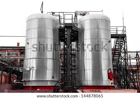 industrial chemical storage - stock photo